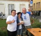 Antonio Cavallin, presidente di Checco l'Ovetto, e il nostro capitano Sandrone con il sindaco Katia Maccarrone...immagine perfetta per chiudere questa giornata!